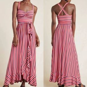 Anthropologie Maeve Gabriela Ruffled Maxi Dress